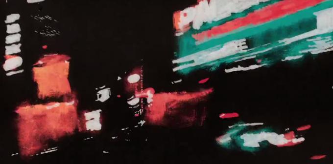 Un giro notturno a New York, in 3454 dipinti a olio