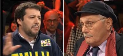 La discussione tra Matteo Salvini e Antonio Pennacchi a Ballarò
