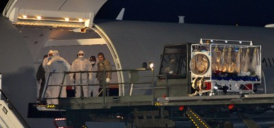 È arrivato in Italia il medico italiano malato di ebola