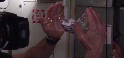 Bolle d'acqua nello spazio