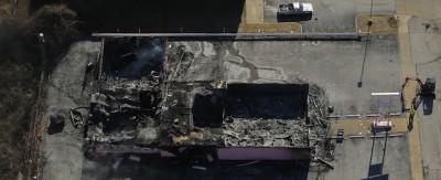 I danni a Ferguson visti dall'alto