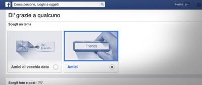 La nuova funzione per dire grazie su Facebook