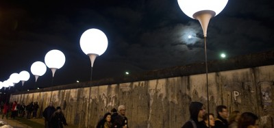 La caduta del Muro di Berlino e i palloncini