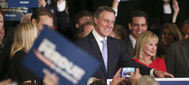 Senate Hopeful David Perdue Gathers With Supporters On Election Night