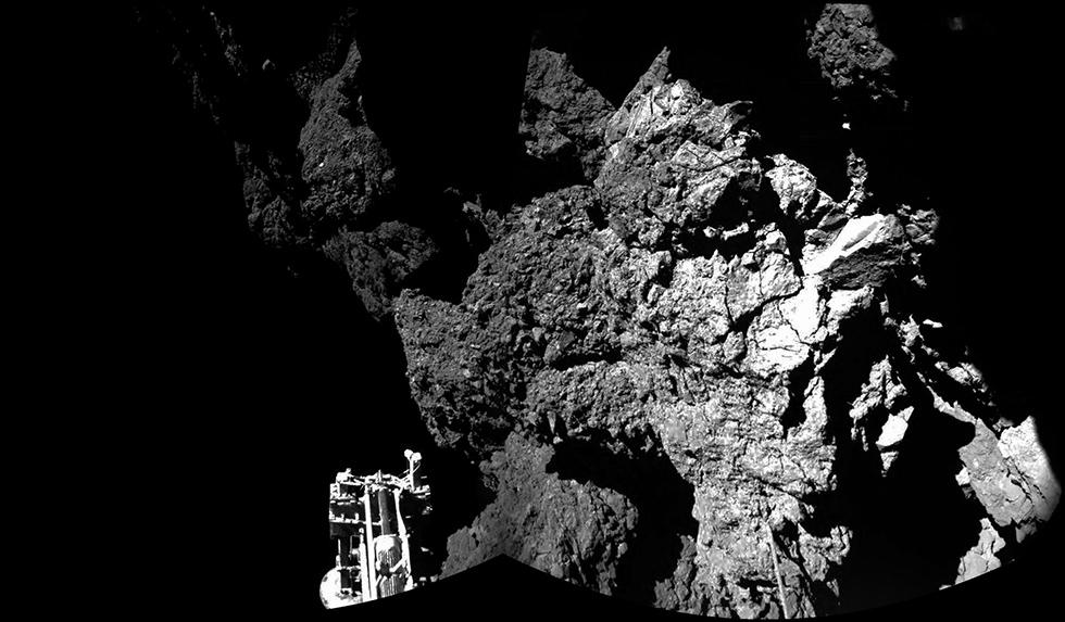 Superficie cometa vista da Philae