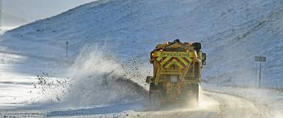 La prima neve nel Regno Unito
