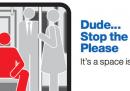 La campagna contro quelli che si siedono a gambe larghe in metro, a New York