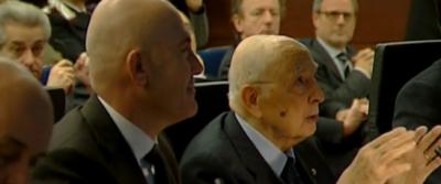 Il video di Giorgio Napolitano che si commuove parlando con Samantha Cristoforetti