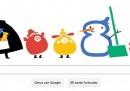 Il solstizio d'inverno nel doodle natalizio di Google