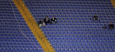 Gli stadi vuoti in Italia