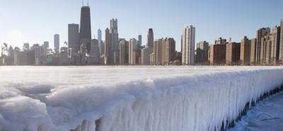 Le foto di Chicago ghiacciata, bellissima