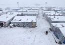 Le foto dei rifugiati siriani tra la neve