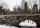 Le foto della neve a New York