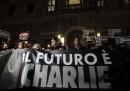 Piazza Farnese. Fiaccolata per le vittime della strage nella redazione di Charlie Hebdo