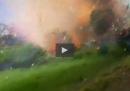 Il video dell'esplosione di una fabbrica di fuochi d'artificio