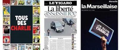 Le prime pagine su Charlie Hebdo in Francia