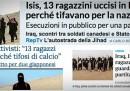 L'IS ha davvero ucciso 13 ragazzi che guardavano una partita di calcio?