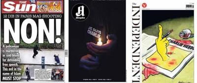 Le prime pagine di tutto il mondo su Charlie Hebdo