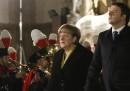 Le foto di Matteo Renzi e Angela Merkel a Palazzo Vecchio, a Firenze
