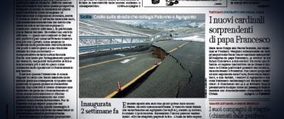 Il viadotto crollato in Sicilia