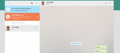 La app di WhatsApp sul computer