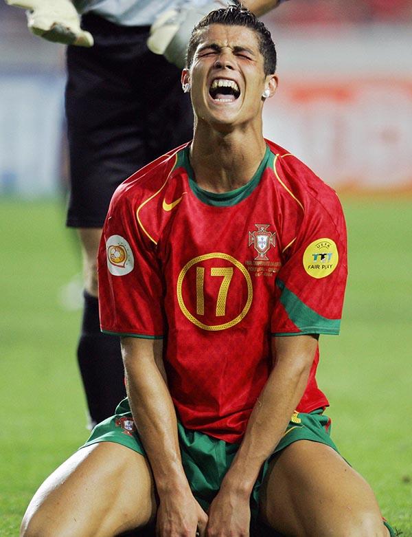 Portuguese forward Cristiano Ronaldo rue