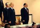 L'orchestra militare egiziana ha stonato l'inno russo davanti a Putin