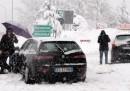 Le foto della neve sulla A1