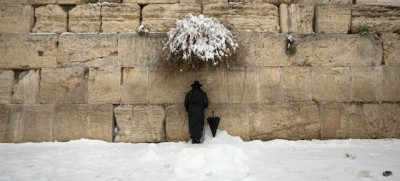 Gerusalemme con la neve