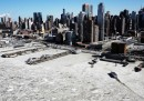 Manhattan ghiacciata, fotografata