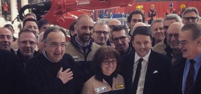 """Renzi """"gasatissimo"""" dai progetti di Marchionne"""