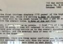 """La lettera con cui George R.R. Martin propose """"A Game of Thrones"""" al suo agente"""
