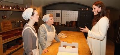 Kate Middleton sul set di Downton Abbey
