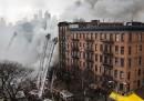 I palazzi crollati nel centro di New York