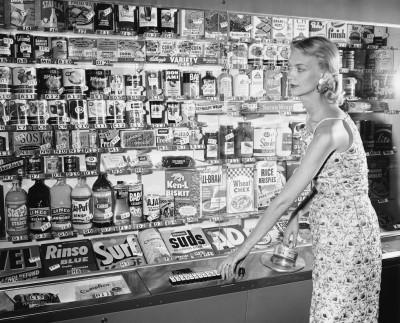 Un distributore automatico, nel 1956