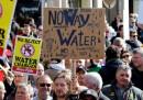 Le nuove proteste contro le tariffe sull'acqua in Irlanda