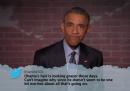 Obama legge tweet cattivi su di sé