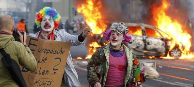 Le proteste di Francoforte contro la BCE