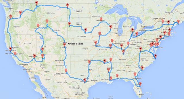 Stati Uniti on the road