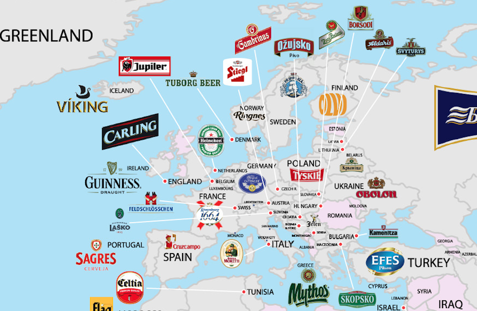 mappa birre