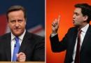 Cameron e Miliband in tv, stasera