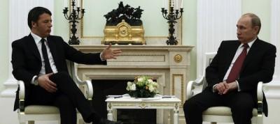Le foto di Renzi a Mosca