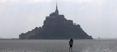 La grande marea a Mont Saint-Michel