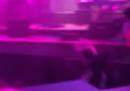 Il palco crollato in una scuola dell'Indiana