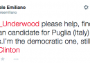 Il tweet di Michele Emiliano a Frank Underwood