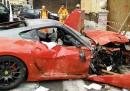 L'incidente della Ferrari nel centro di Roma