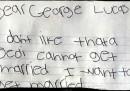 La lettera di un bambino a George Lucas