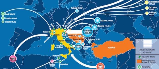 Da dove arrivano i migranti in italia il post - Regioni italiane non bagnate dal mare ...