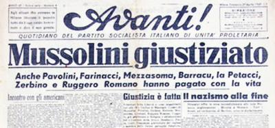 Il giorno in cui fu ucciso Mussolini
