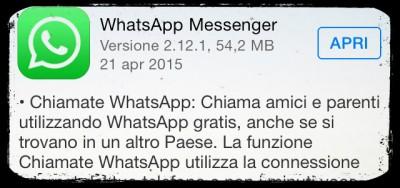 WhatsApp adesso fa telefonare anche con iPhone